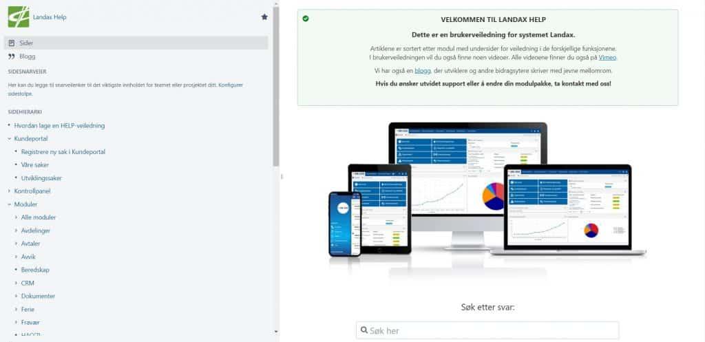 Landax User Guide homepage